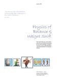 Physics of Balance & Weight Shift