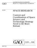 space research content and coordination of space science and technology