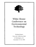 white house conference on environmental technology 1994