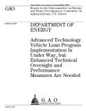 department of energy advanced technology vehicle loan program