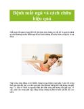 Bệnh mất ngủ và cách chữa hiệu quả