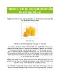 Vitamin C đẩy lui cảm lạnh nhanh gấp đôi nếu tập thể dục