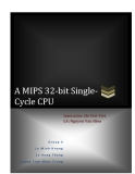 A MIPS 32-bit Single-Cycle CPU