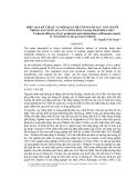 """Báo cáo """" Hiệu quả kinh tế và mối quan hệ với nguồn lực con người trong sản xuất lúa của nông dân ngoại thành Hà Nội """""""