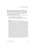 """Báo cáo """" PROTECTING AGRICULTURAL CROPS FROM THE EFFECTS OF TROPOSPHERIC OZONE EXPOSURE: Reconciling Science and Standard Setting in the United States, Europe, and Asia"""""""