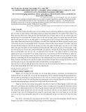 """Báo cáo """" xu hướng biến động dân số, lao động nông nghiệp, đất canh tác, sản lượng lúa của tỉnh Thái Bình trong giai đoạn 2007-2020 """""""