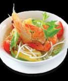 Canh chua đậu rồng nấu tôm