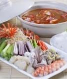 Lẩu tôm chua cay làm cực dễ ăn cực ngon