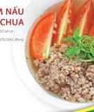 Thịt băm nấu nấm cà chua