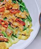 Cay thơm món bánh xèo hải sản Hàn Quốc