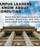 Evaluating Cloud Risk for the Enterprise:  A Shared Assessments Guide