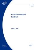 Focus on Formative  Feedback
