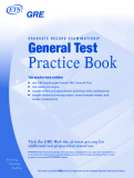 GRADUATE RECORD EXAMINATIONS® General Test Practice Book