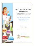 2011 SOCIAL MEDIA  MARKETING  INDUSTRY REPORT