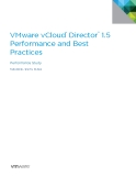 VMware vCloud®  Director ™  1.5  Performance and Best  Practices
