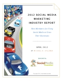 2012 SOCIAL MEDIA  MARKETING  INDUSTRY REPORT