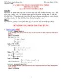 Các phương pháp giải hệ phương trình thường sử dụng giải đề tuyển sinh đại học