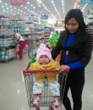 Những bài học khi cùng bé đi siêu thị