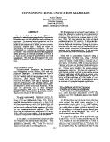 "Báo cáo khoa học: ""TYPES IN FUNCTIONAL UNIFICATION GRAMMARS"""