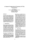 "Báo cáo khoa học: ""A General Computational Treatment Of The Comparative"""