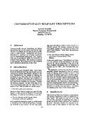 "Báo cáo khoa học: ""CONVERSATIONALLY RELEVANT DESCRIPTIONS"""