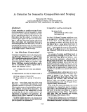 """Báo cáo khoa học: """"A Calculus for Semantic Composition and Scoping"""""""