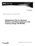 Redeployment Plan for Spectrum Efficient Land Mobile Equipment in the Frequency Range 100-500 MHz