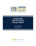 GUIDELINES  FOR THE USE OF  SOCIAL MEDIA