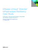 VMware vCloud® Director™  Infrastructure Resiliency   Case Study