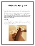 15 tips của một tỷ phú