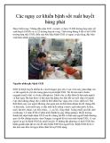 Các nguy cơ khiến bệnh sốt xuất huyết bùng phát