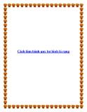 Cách làm bánh quy bơ hình lá rụng