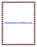 Phương pháp chọn và chế biến hoa Astiso