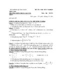 Đề Thi Thử Đại Học Toán 2013 - Đề 39