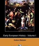 EARLY EUROPEAN HISTORY