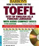 TEST OF ENGLISH AS A FOREIGN LANGUAGE TOEFL PRACTICE TESTS