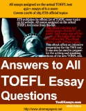 Sách Answers to All  TOEFL Essay  Questions