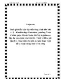 Luận văn Đánh giá điều kiện địa chất công trình khu nhà A, B - Khu liên hợp Vinaconex,  phường Nhân Chính, quận Thanh Xuân, Hà Nội ở giai đoạn lập dự án nghiên cứu khả thi.  Thiết kế khảo sát địa chất công trình cho nhà A ở giai đoạn thiết kế kĩ thuật và lập bản vẽ thi công