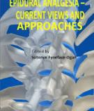 Epidural Analgesia – Current Views and Approaches Edited by Sotonye Fyneface-Ogan