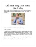 Chế độ ăn trong viêm loét dạ dày tá tràng
