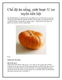 Chế độ ăn uống, sinh hoạt: U xơ tuyến tiền liệt
