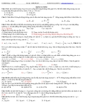 Bài tập động lượng