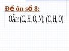 Bài tập trắc nghiệm ôn thi đại học 2007 môn hóa đề số 8