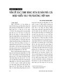 """Báo cáo """" Vấn đề xác định hàng hoá bị bán phá giá nhập khẩu vào thị trường Việt Nam """""""