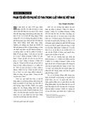 """Báo cáo """" Phạm tội đối với phụ nữ có thai trong Luật hình sự Việt Nam """""""
