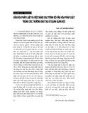 """Báo cáo """" Văn hoá pháp luật và việc nâng cao trình độ văn hoá pháp luật trong các trường đào tạo sĩ quan quân đội """""""