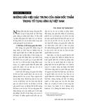 """Báo cáo """" Những dấu hiệu đặc trưng của giám đốc thẩm trong tố tụng hình sự Việt Nam """""""