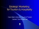 Strategic Marketing for Tourism & Hospitality
