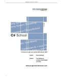 Programmerís Heaven:  C# School