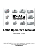Lathe Operator's Manual January 2008
